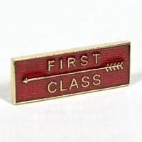 First Class Badge