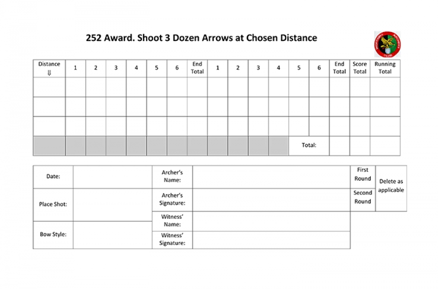 252 Award Scoresheet